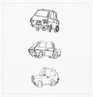 FIAT 127 sketch