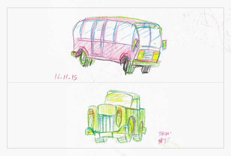 vintage cars sketches