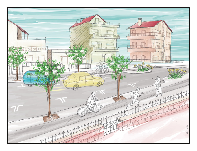 illustration for neighborhood planning in Athens, Greece